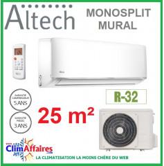 Altech Climatisation Mono-split Réversible - R32 - 09HRFNX + 09HFN8 (2.5 kW)