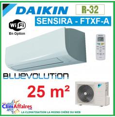 Daikin Climatisation Inverter Réversible - SENSIRA BLUEVOLUTION - R32 - FTXF25B + RXF25B (2.5 kW)