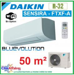 Daikin Climatisation Inverter Réversible - SENSIRA BLUEVOLUTION - R32 - FTXF50A + RXF50B (5.0 kW)