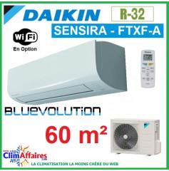 Daikin Climatisation Inverter Réversible - SENSIRA BLUEVOLUTION - R32 - FTXF60A + RXF60B (6.0 kW)