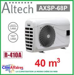 Pompe à chaleur pour piscine ALTECH - AXSP-68P - 6,95 kW (40 m3)