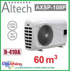 Pompe à chaleur pour piscine ALTECH - AXSP-108P - 10.99 kW (60 m3)