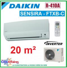 Daikin Climatisation Inverter Réversible - SENSIRA - R410A - FTXB20C + RXB20C (2.0 kW)