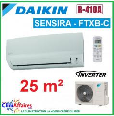 Daikin Climatisation Inverter Réversible - SENSIRA - R410A - FTXB25C + RXB25C (2.5 kW)