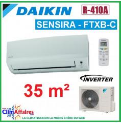 Daikin Climatisation Inverter Réversible - SENSIRA - R410A - FTXB35C + RXB35C (3.3 kW)