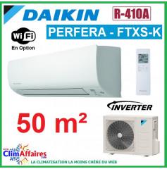 Daikin Climatisation Réversible Inverter - PERFERA - R410A - FTXS50K + RXS50L (5.0 kW)