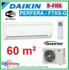 Daikin Climatisation Réversible Inverter - PERFERA - R410A - FTXS60G + RXS60L (6.0 kW)