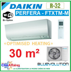 Daikin Climatisation - PERFERA OPTIMISED HEATING BLUEVOLUTION - R32 - FTXTM30M + RXTM30N (3.0 kW)