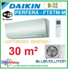 Daikin Climatisation - PERFERA OPTIMISED HEATING BLUEVOLUTION - R32 - FTXTM30M + RXTM30N (3.0 kW)
