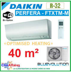 Daikin Climatisation - PERFERA OPTIMISED HEATING BLUEVOLUTION - R32 - FTXTM40M + RXTM40N (4.0 kW)