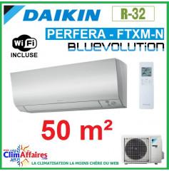 Daikin Climatisation Réversible - PERFERA BLUEVOLUTION - R32 - FTXM50N + RXM50N9 + WIFI (5.0 kW)
