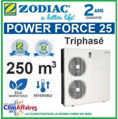 Pompe à chaleur pour piscine ZODIAC 33 kW Triphasée - POWER FORCE 25 (250 m³)