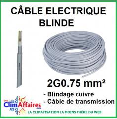 Câble électrique blindé - 2G0.75 mm²