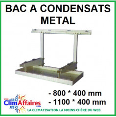 Bac à condensats en METAL - 800 * 400 mm / 1100 * 400 mm