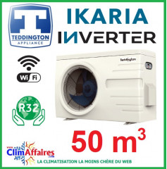 Pompe à chaleur pour piscine TEDDINGTON - IKARIA INVERTER 6 (50 m3)