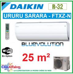 Daikin Climatisation - URURU SARARA BLUEVOLUTION - R32 - FTXZ25N + RXZ25N (2.5 kW)