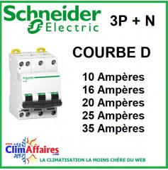 Disjoncteur Schneider Electric - COURBE D - DT40N 3P + N (10 à 32 Ampères)