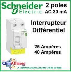 Interrupteur Différentiel - Schneider Electric - 2 poles - XP 30mA AC (25 et 40 Ampères)