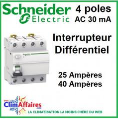 Interrupteur Différentiel - Schneider Electric - 4 poles - XP 30mA AC (25 et 40 Ampères)