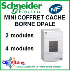 Mini Coffret Borne Opale - Schneider Electric - 2 ou 4 modules