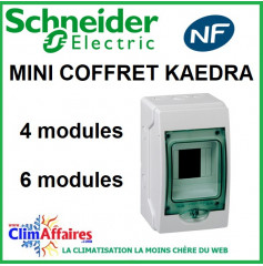 Mini Coffret KAEDRA - Schneider Electric - 4 ou 6 modules