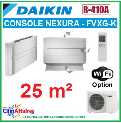 Daikin Climatiseur - Console à Effet Radiant - NEXURA - R410A - FVXG25K + RXG25L (2.5 kW)
