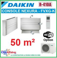 Daikin Climatiseur Console à Effet Radiant - NEXURA - R410A - FVXG50K + RXG50L (5.0 kW)