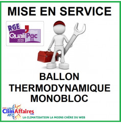 Mise en service - Ballon thermodynamique - Monobloc