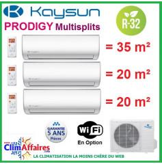 Kaysun Tri-Splits - PRODIGY - R32 - KAM3-78 DR7 + 2 x KAY-26 DR8 + KAY-35 DR8 (7.91 kW)