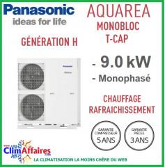 Panasonic - Aquarea T-CAP - Pompe à Chaleur Air/Eau - Génération H - Monobloc - WH-MXC09H3E5 (9.0 kW)
