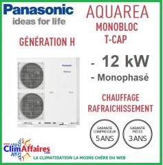 Panasonic - Aquarea T-CAP - Pompe à Chaleur Air/Eau - Génération H - Monobloc - WH-MXC12H6E5 (12.0 kW)