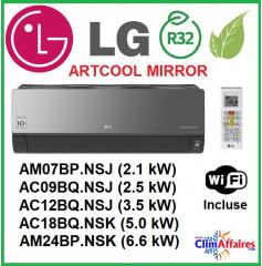 LG Climatisation - Artcool Mirror WIFI - R32 - Unités Intérieures Multisplits - AM07 / AC09 / AC12 / AC18 / AM24
