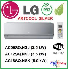 LG Climatisation - Artcool Silver WIFI - R32 - Unités Intérieures Multisplits - AC09.SQ / AC12.SQ / AC18.SQ