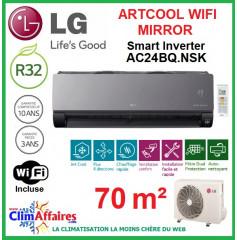 LG Climatisation Inverter - ARTCOOL MIRROR + WIFI - AC24BQ.NSK + AC24BQ.U24 (6.6 kW)