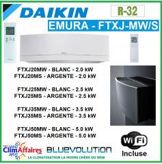 Daikin Unité Intérieure - EMURA BLUEVOLUTION + WIFI - R32 - FTXJ20M / FTXJ25M /FTXJ35M /FTXJ50M