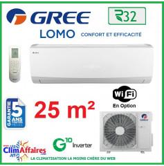 GREE Climatisation Inverter - Monosplit Mural - R32 - LOMO 9 (2.5 kW)