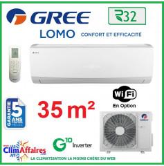 GREE Climatisation Inverter - Monosplit Mural - R32 - LOMO 12 (3.2 kW)