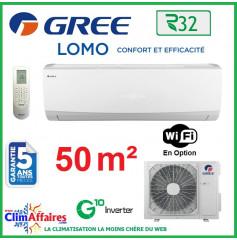 GREE Climatisation Inverter - Monosplit Mural - R32 - LOMO 18 (4.6 kW)