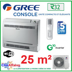 GREE Climatisation Inverter - R32 - CONSOLE 9 (2.7 kW)