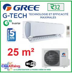 GREE Climatisation Inverter - Monosplit Mural - R32 - G-TECH 9 (2.69 kW)