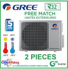GREE Unités Extérieures Bi-splits - Free Match - R32 - FM14 / FM18