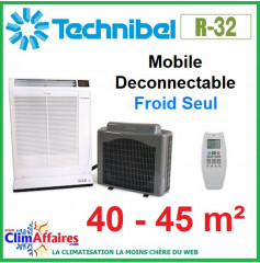 TECHNIBEL Climatisation Mobile Déconnectable - Froid seul - SCDF32C5I (4.0 kW)