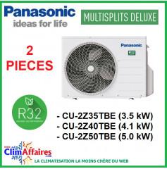 Panasonic Climatisation - Unités Extérieures Z DELUXE - BI-SPLITS - R32 - CU-2Z35TBE / CU-2Z41TBE / CU-2Z50TBE