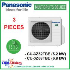 Panasonic Climatisation - Unités Extérieures Z DELUXE - TRI-SPLITS - R32 - CU-3Z52TBE / CU-3Z68TBE