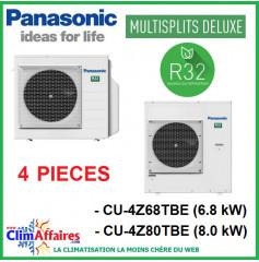 Panasonic Climatisation - Unités Extérieures Z DELUXE - QUADRI-SPLITS - R32 - CU-4Z68TBE / CU-4Z80TBE