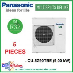 Panasonic Climatisation - Unités Extérieures Z DELUXE - PENTA-SPLITS - R32 - CU-5Z90TBE