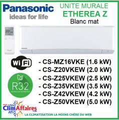Panasonic Climatisation Unités Intérieures Multisplits - Etherea Blanc Mat - R32