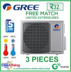 GREE - Unités Extérieures Tri-splits - Free Match - R32 - FM21 / FM24