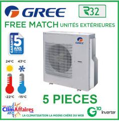 GREE Unités Extérieures Penta-splits - Free Match - R32 - FM 42