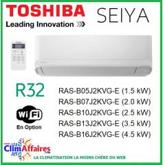 Toshiba - Unité Intérieure - SEIYA - R32 - RAS-B05J2KVG-E / RAS-B07J2KVG-E / RAS-B10J2KVG-E / RAS-B13J2KVG-E / RAS-B16J2KVG-E